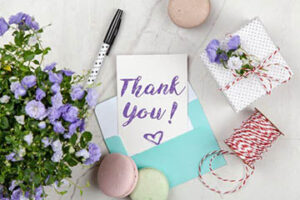 Thankyou Note For Babby Shower Favour